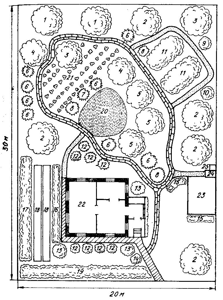 Схема расположения построек на участке 66